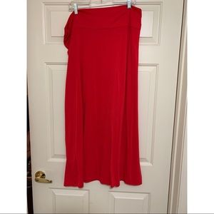 Faded Glory Maxi Skirt Red